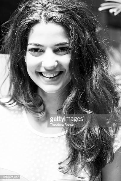 Actress Esther Garrel is photographed for Self Assignment on October 19 2013 in Paris France