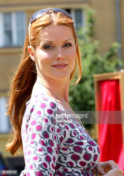 Actress Esther Schweins attends a photocall to promote a new show on 'ZDF Theatre Kanal' on June 4 2008 in Berlin Germany