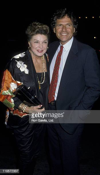 Actress Esther Williams and Ed Bell attend the premiere of 'Nobody's Fool' on November 5 1986 at Loew's Tower East Theater in New York City