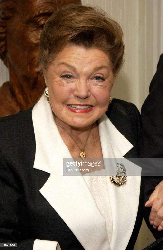 Actress <a gi-track='captionPersonalityLinkClicked' href=/galleries/search?phrase=Esther+Williams&family=editorial&specificpeople=123838 ng-click='$event.stopPropagation()'>Esther Williams</a> arrives at the opening night of the play 'An Evening With Golda Meir' at The Canon Theatre on May 6, 2003 in Beverly Hills, California.
