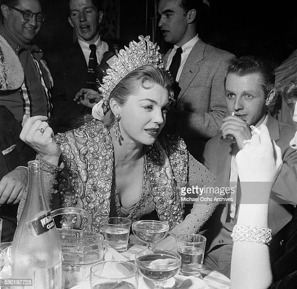 Actress Esther Williams attends Sonja Henie's Circus Party in Los AngelesCA