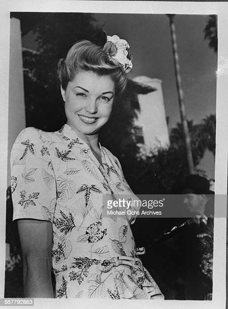 Actress Esther Williams poses for a portrait in Los Angeles California