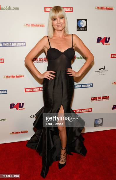 Actress Eugenia Kuzmina attends the Elite Awards ceremony charity gala for Jagrit at Renaissance Los Angeles Airport Hotel on August 5 2017 in Los...