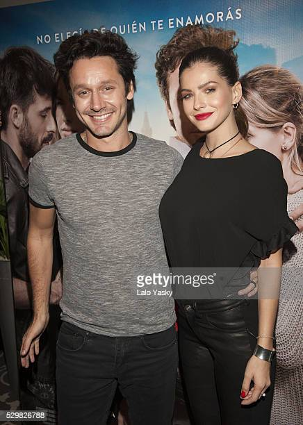 Actress Eugenia 'La China' Suarez and actor Benjamin Vicuna attend a press conference to present 'El Hilo Rojo' at the Four Seasons Hotel on May 9...