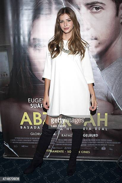 Actress Eugenia 'La China' Suarez attends a press conference to present 'Abzdurdah' at the Dazzler Hotel on May 27 2015 in Buenos Aires Argentina