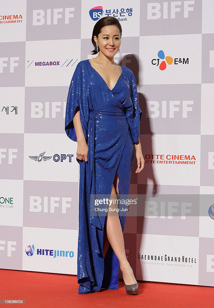 Actress Eum Ji-Won arrives for the opening ceremony of the 16th Busan International Film Festival (BIFF) at the Busan Cinema Center on October 6, 2011 in Busan, South Korea. The biggest film festival in Asia showcases 307 films from 70 countries and runs from October 6-14.