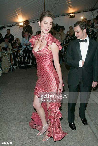 Actress Eva Amurri and fashion designer Zach Posen arrive at the Metropolitan Museum of Art Costume Institute Benefit Gala sponsored by Gucci April...