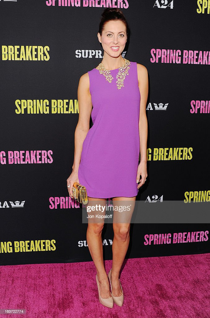 Actress Eva Amurri Martino arrives at the Los Angeles Premiere 'Spring Breakers' at ArcLight Hollywood on March 14, 2013 in Hollywood, California.