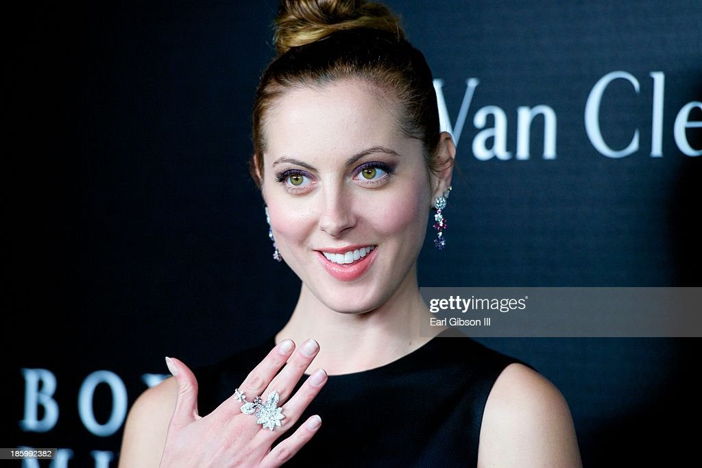 Actress <a gi-track='captionPersonalityLinkClicked' href=/galleries/search?phrase=Eva+Amurri&family=editorial&specificpeople=213733 ng-click='$event.stopPropagation()'>Eva Amurri</a> Martino show the latest in Jewelry Fashions by Van Cleef & Arpels at the New Exhibit Opening Night Reception at The Bowers Museum on October 26, 2013 in Santa Ana, California.