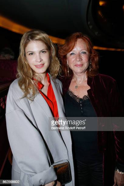 Actress Eva Darlan and guest attend the 25th 'Gala de l'Espoir' at Theatre des ChampsElysees on October 17 2017 in Paris France