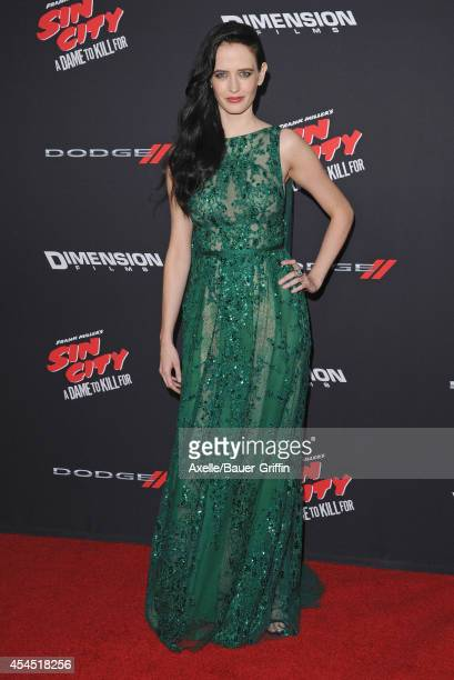 Actress Eva Green arrives at the Los Angeles premiere of 'Sin City A Dame To Kill For' at TCL Chinese Theatre on August 19 2014 in Hollywood...
