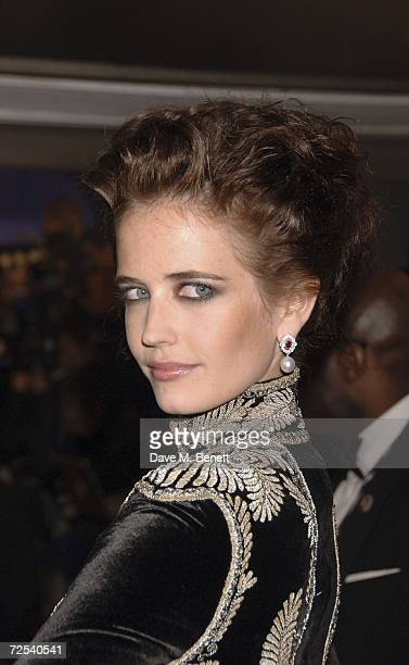 Actress Eva Green arrives at the World premiere of the new James Bond film 'Casino Royale' held at Odeon Leicester Square on November 14 2006 in...