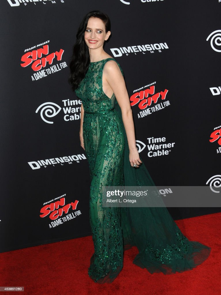 Actress <a gi-track='captionPersonalityLinkClicked' href=/galleries/search?phrase=Eva+Green&family=editorial&specificpeople=211151 ng-click='$event.stopPropagation()'>Eva Green</a> arrives for the Premiere Of Dimension Films' 'Sin City: A Dame To Kill For' held at the TCL Chinese Theatre on August 19, 2014 in Hollywood, California.