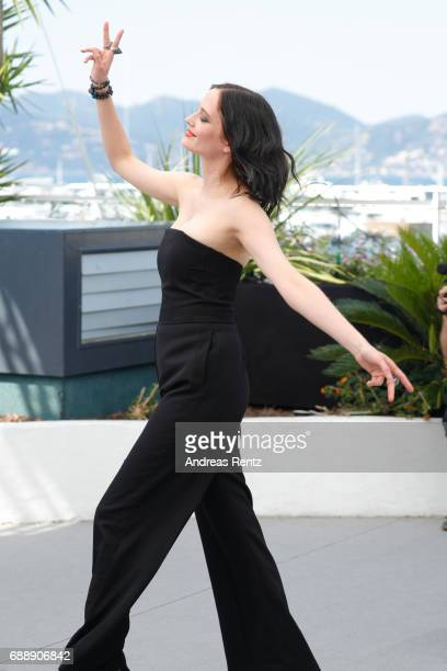 Actress Eva Green attends the 'Based On A True Story' photocall during the 70th annual Cannes Film Festival at Palais des Festivals on May 27 2017 in...