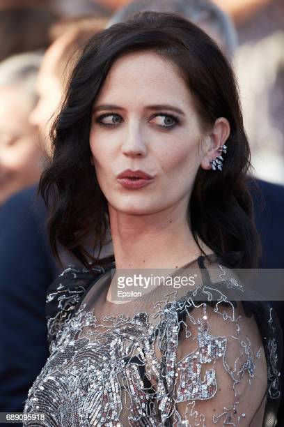 Actress Eva Green attends the 'Based On A True Story' screening during the 70th annual Cannes Film Festival at Palais des Festivals on May 27 2017 in...