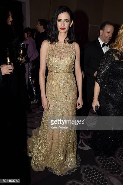 Actress Eva Green attends the cocktail reception during the 73rd Annual Golden Globe Awards at The Beverly Hilton Hotel on January 10 2016 in Beverly...