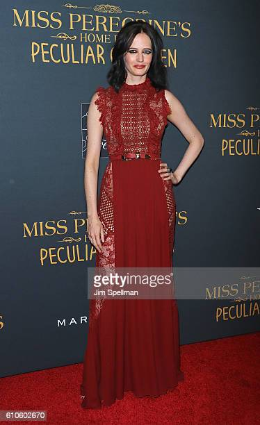 Actress Eva Green attends the 'Miss Peregrine's Home For Peculiar Children' New York premiere at Saks Fifth Avenue on September 26 2016 in New York...