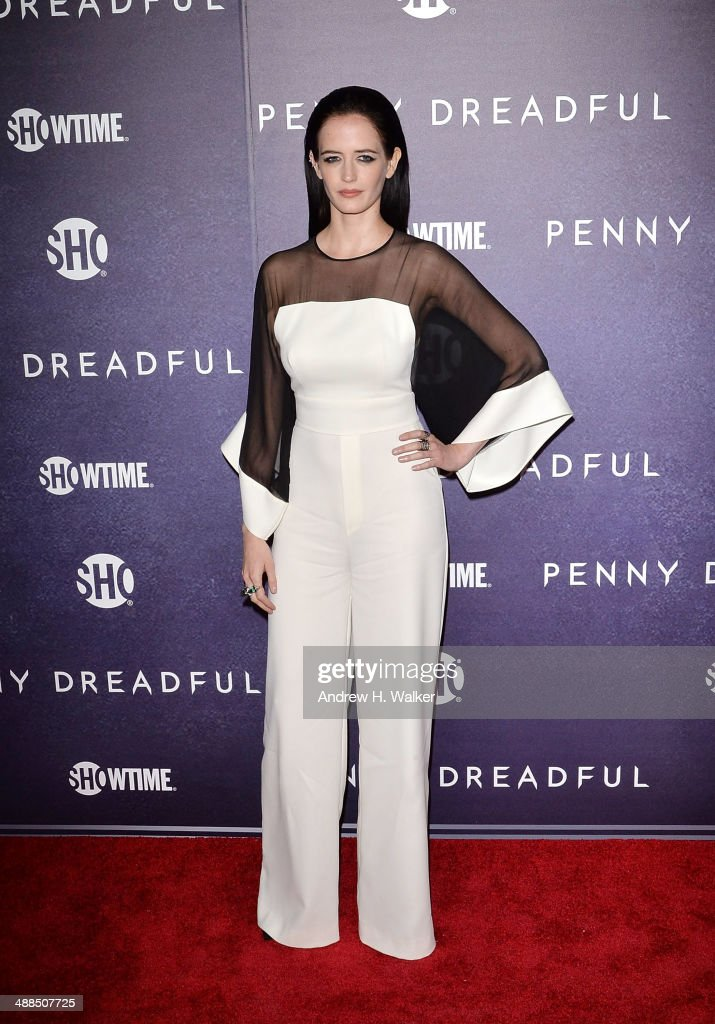 Actress <a gi-track='captionPersonalityLinkClicked' href=/galleries/search?phrase=Eva+Green&family=editorial&specificpeople=211151 ng-click='$event.stopPropagation()'>Eva Green</a> attends the 'Penny Dreadful' series world premiere at The Highline Hotel on May 6, 2014 in New York City.