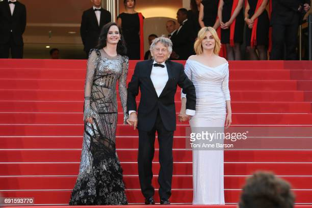 Actress Eva Green director Roman Polanski and actress Emmanuelle Seigner attend the 'Based On A True Story' screening during the 70th annual Cannes...