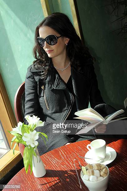 Actress Eva Green is seen during a photo session of Montblanc White Nights Festival on June 19 2010 in Saint Petersburg Russia