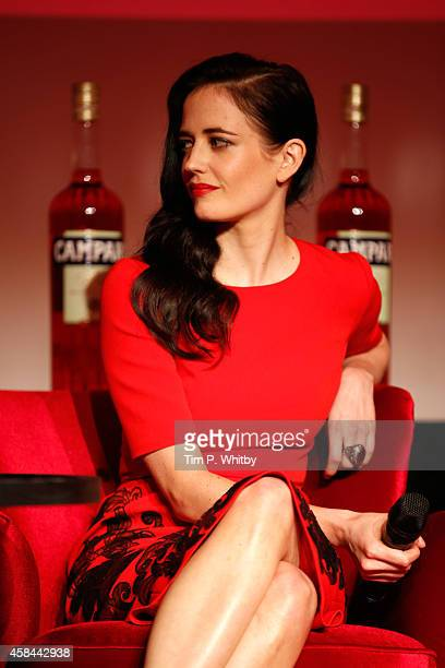 Actress Eva Green speaks on stage as Italian drinks brand Campari launches exclusive 2015 Campari Calendar This year's iconic Calendar is the 16th...