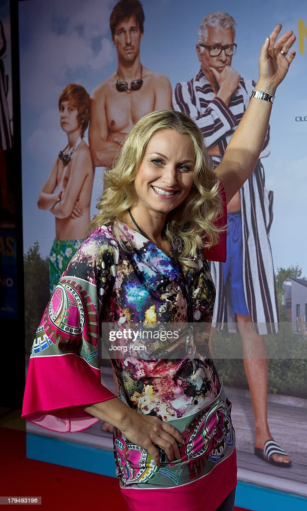 Actress Eva Gruenbauer poses at the 'Da geht noch was' Germany premiere at Mathaeser on September 4, 2013 in Munich, Germany.