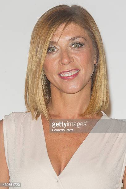 Actress Eva Isanta attends 'Dinh Van' 50th Anniversary party at French Consulate on October 14 2015 in Madrid Spain