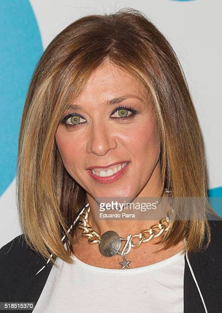 Actress Eva Isanta attends 'La que se avecina' 9th season presentation at TeleCinco studios on April 1 2016 in Madrid Spain