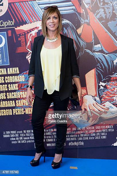 Actress Eva Isanta attends the 'One Night Only Pulp Fiction' premiere at Capitol Cinema on June 22 2015 in Madrid Spain