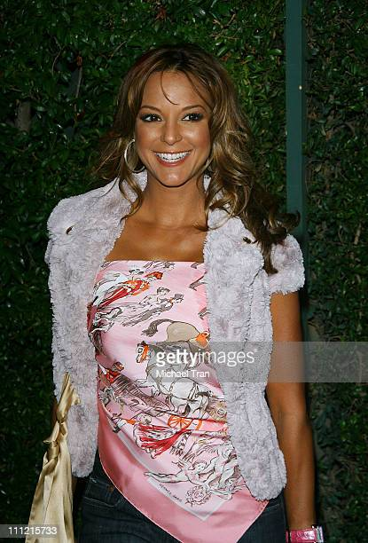 Actress Eva La Rue arrives at 'The Cadillac of Premieres' at Area Nightclub on September 19 2007 in West Hollywood California