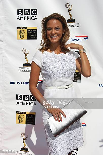 US actress Eva La Rue arrives for a preEmmy Awards tea party hosted by the British Academy of Film Television Arts/Los Angeles and the Academy of...