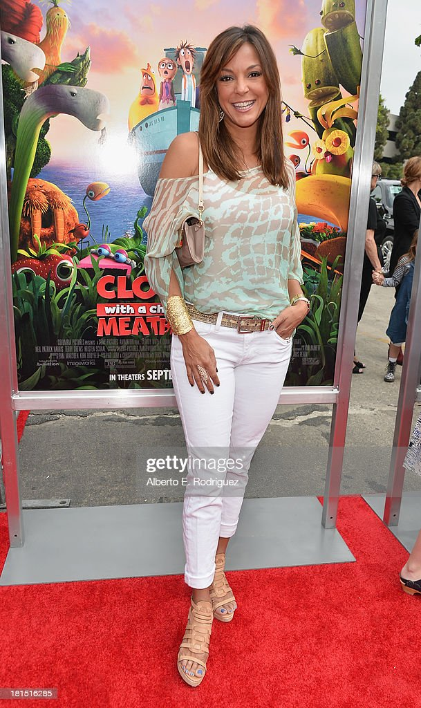 Actress Eva La Rue arrives to the premiere of Columbia Pictures and Sony Pictures Animation's 'Cloudy With A Chance of Meatballs 2' at the Regency Village Theatre on September 21, 2013 in Westwood, California.
