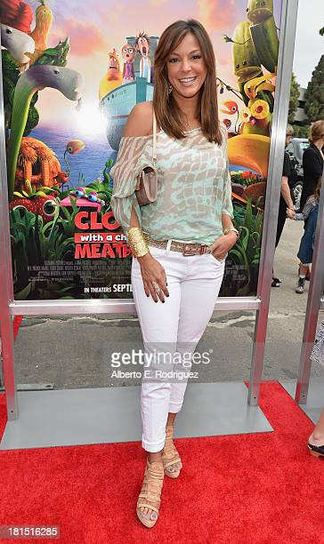 Actress Eva La Rue arrives to the premiere of Columbia Pictures and Sony Pictures Animation's 'Cloudy With A Chance of Meatballs 2' at the Regency...