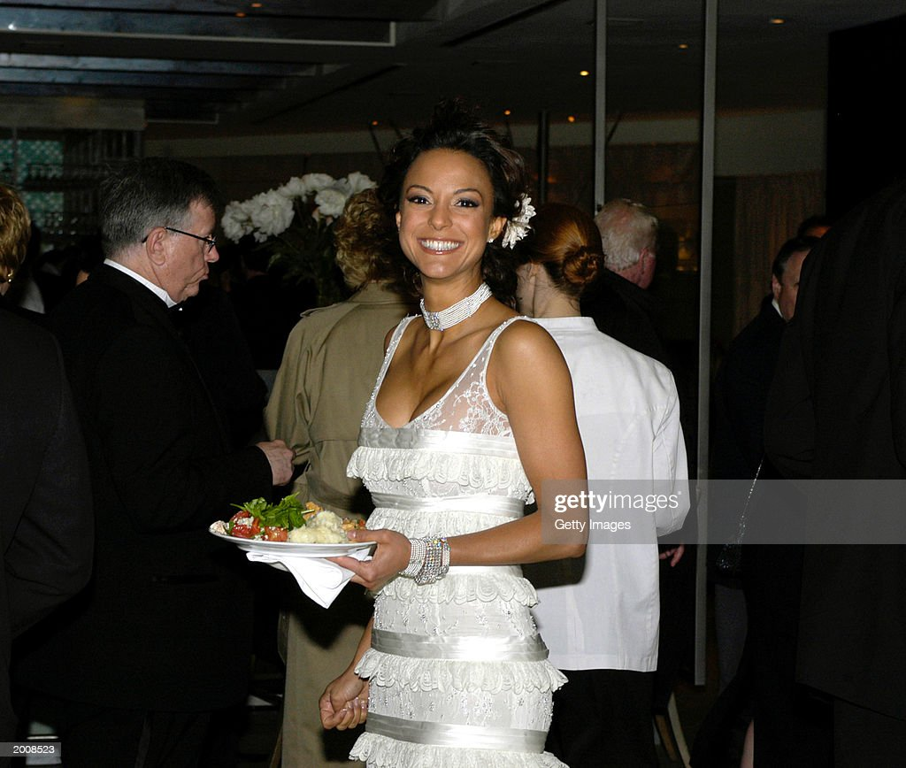 Actress Eva La Rue, wearing a dress by John Russell and De Boules jewelery, appears at the ABC after party for the 30th Annual Daytime Emmy Awards at the Sea Grill Restaurant May 16, 2003 in New York City.