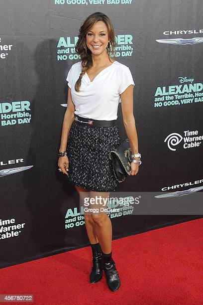 Actress Eva LaRue arrives at the Los Angeles premiere of 'Alexander And The Terrible Horrible No Good Very Bad Day' at the El Capitan Theatre on...
