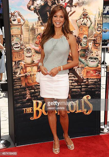 Actress Eva LaRue attends the premiere of 'The Boxtrolls' at Universal CityWalk on September 21 2014 in Universal City California