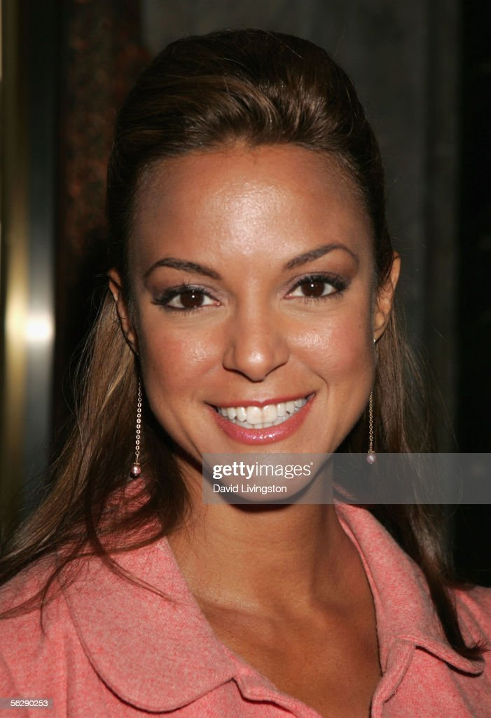 Actress Eva LaRue Callahan poses prior to the opening night performance of Irving Berlin's 'White Christmas' at the Pantages Theatre on November 28, 2005 in Hollywood, California.