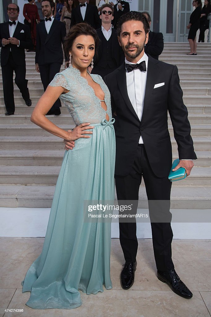 Actress Eva Longoria and Jose Antonio Baston attend amfAR's 22nd Cinema Against AIDS Gala Presented By Bold Films And Harry Winston at Hotel du...