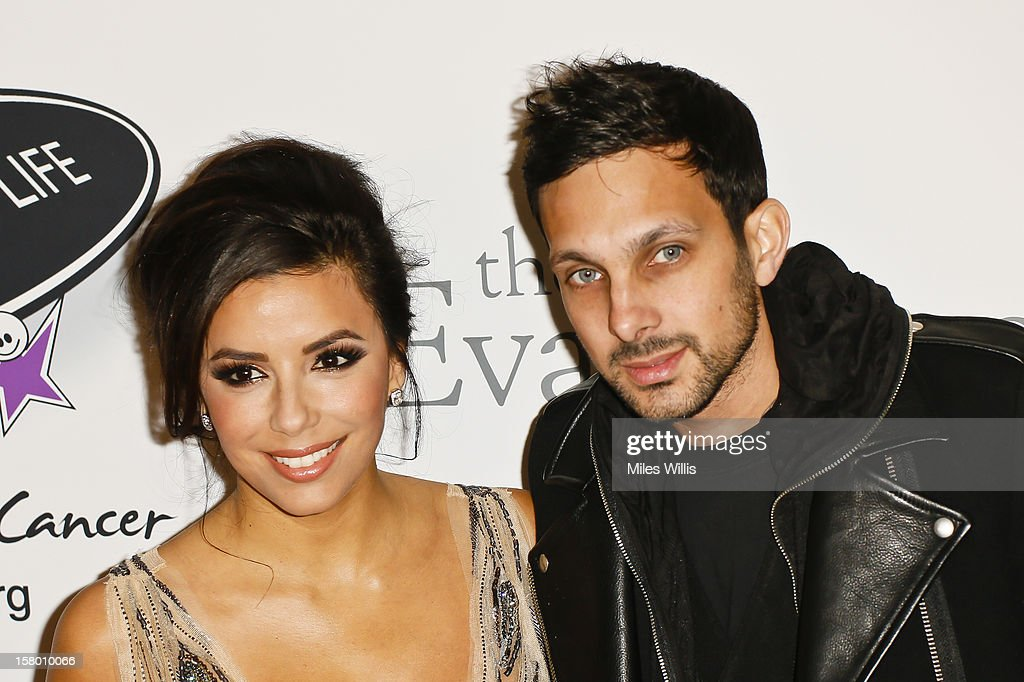 Actress <a gi-track='captionPersonalityLinkClicked' href=/galleries/search?phrase=Eva+Longoria&family=editorial&specificpeople=202082 ng-click='$event.stopPropagation()'>Eva Longoria</a> and magician Dynamo arrive at the Noble Gift Gala held at the ME Hotel on December 8, 2012 in London, England.