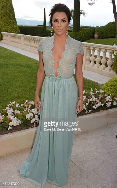 Actress Eva Longoria arrives at amfAR's 22nd Cinema Against AIDS Gala Presented By Bold Films And Harry Winston at Hotel du CapEdenRoc on May 21 2015...