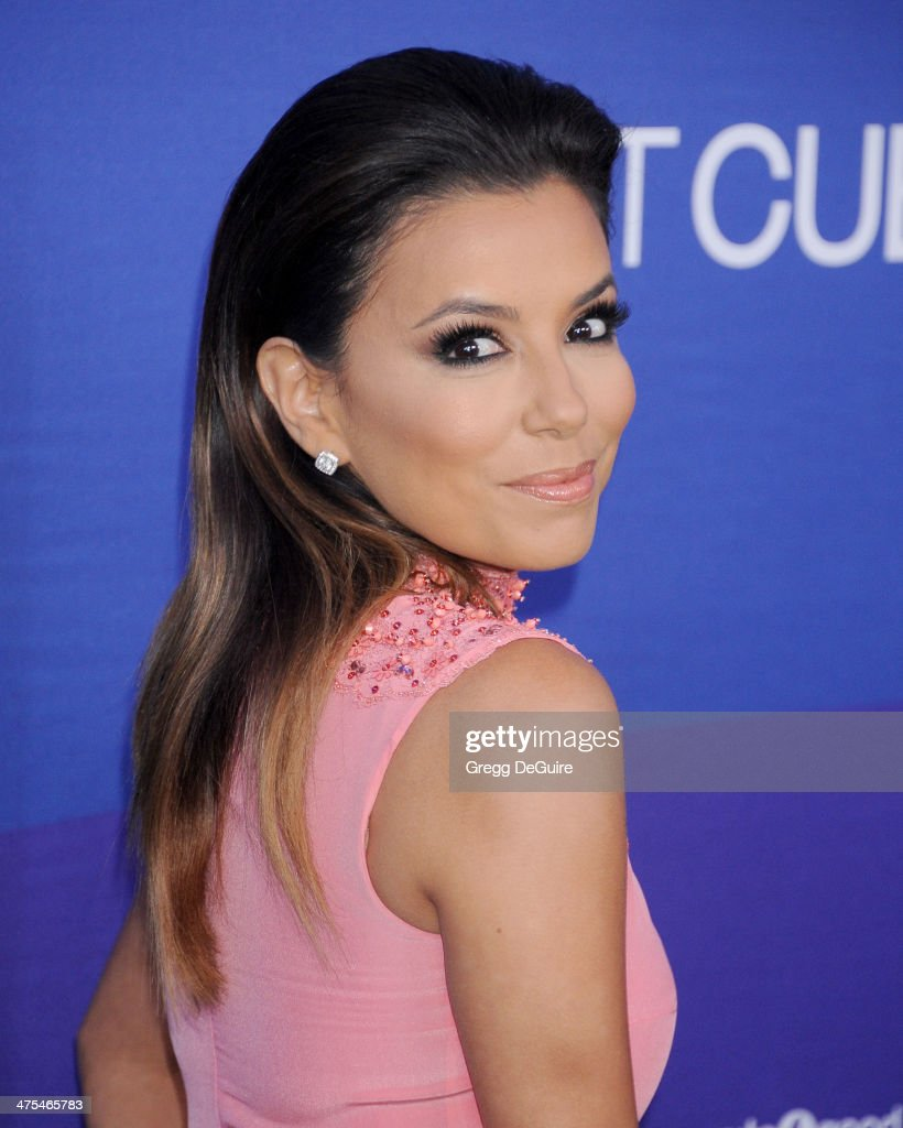 Actress Eva Longoria arrives at the 1st Annual Unite4:humanity event hosted by Unite4good and Variety at Sony Studios on February 27, 2014 in Los Angeles, California.
