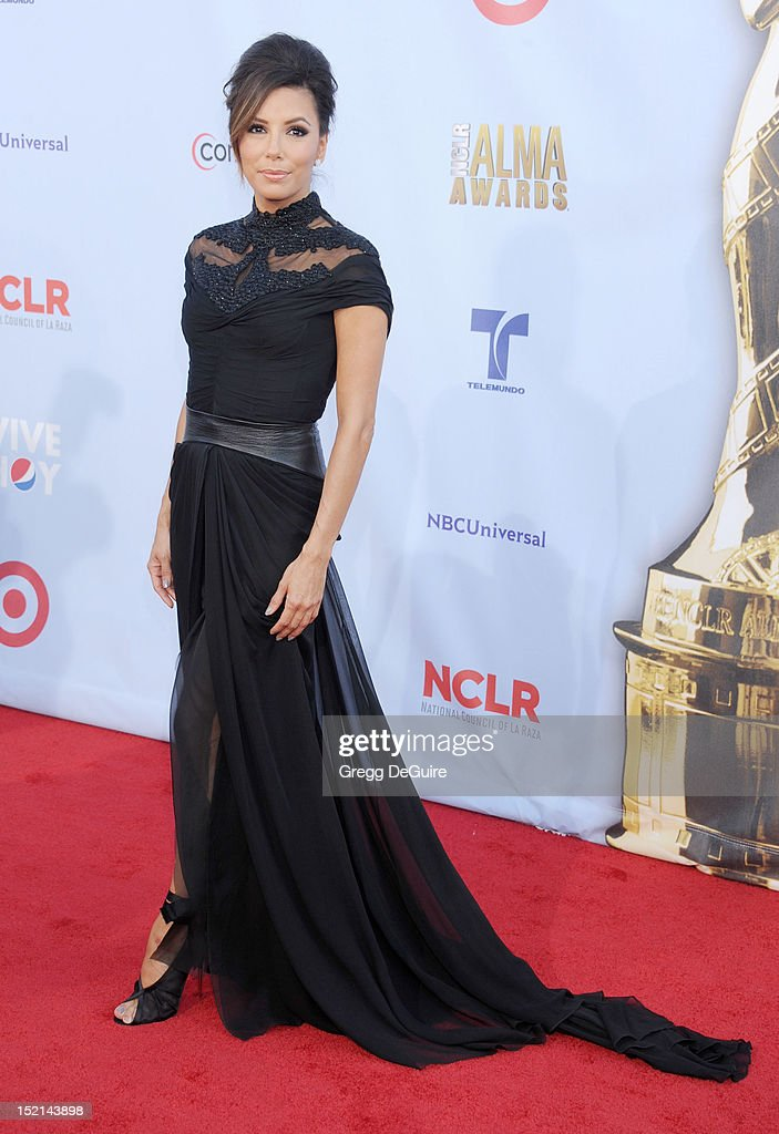Actress <a gi-track='captionPersonalityLinkClicked' href=/galleries/search?phrase=Eva+Longoria&family=editorial&specificpeople=202082 ng-click='$event.stopPropagation()'>Eva Longoria</a> arrives at the 2012 NCLR ALMA Awards at Pasadena Civic Auditorium on September 16, 2012 in Pasadena, California.