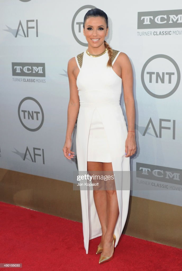 Actress <a gi-track='captionPersonalityLinkClicked' href=/galleries/search?phrase=Eva+Longoria&family=editorial&specificpeople=202082 ng-click='$event.stopPropagation()'>Eva Longoria</a> arrives at the 2014 AFI Life Achievement Award Gala Tribute at Dolby Theatre on June 5, 2014 in Hollywood, California.