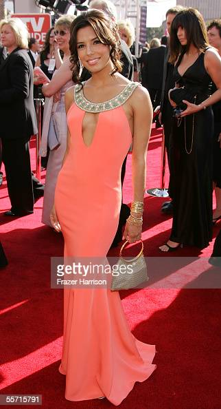 Actress Eva Longoria arrives at the 57th Annual Emmy Awards held at the Shrine Auditorium on September 18 2005 in Los Angeles California