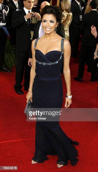 Actress Eva Longoria arrives at the 64th Annual Golden Globe Awards at the Beverly Hilton on January 15 2007 in Beverly Hills California