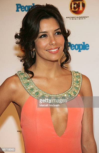 Actress Eva Longoria arrives at the 9th Annual Entertainment Tonight Emmy party sponsored by People magazine held at the Mondrian on September 18...