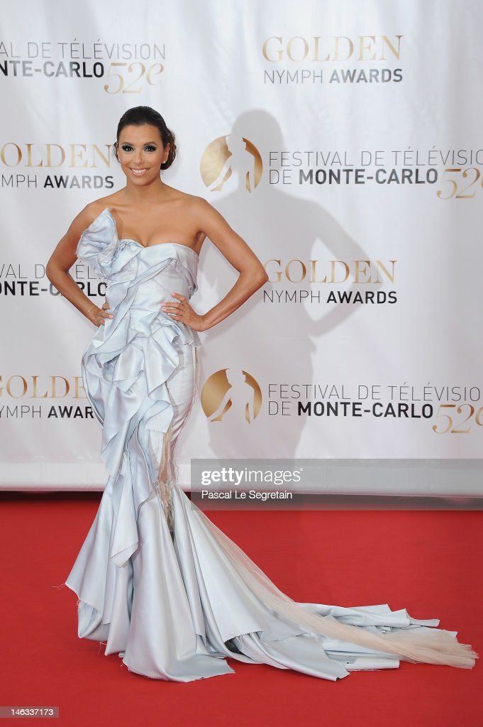 Actress <a gi-track='captionPersonalityLinkClicked' href=/galleries/search?phrase=Eva+Longoria&family=editorial&specificpeople=202082 ng-click='$event.stopPropagation()'>Eva Longoria</a> arrives at the Closing Ceremony of the 52nd Monte Carlo TV Festival on June 14, 2012 in Monte-Carlo, Monaco.