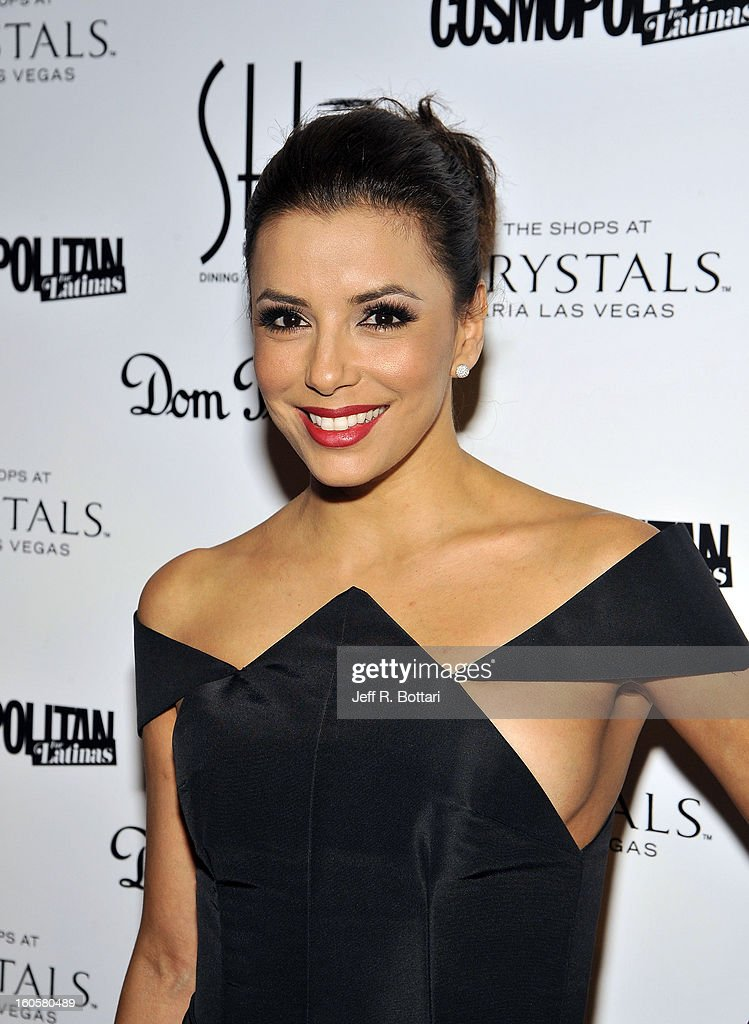 Actress Eva Longoria arrives at the grand opening of SHe by Morton's at Crystals at CityCenter on February 2, 2013 in Las Vegas, Nevada.