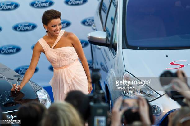Actress Eva Longoria arrives for the Starlite Charity Gala at the Villa Padierna hotel on August 6 2011 in Marbella Spain