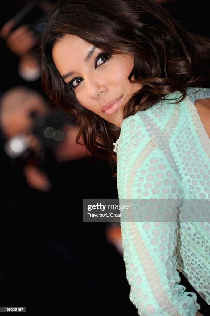 Actress <a gi-track='captionPersonalityLinkClicked' href=/galleries/search?phrase=Eva+Longoria&family=editorial&specificpeople=202082 ng-click='$event.stopPropagation()'>Eva Longoria</a> attend the 'Jimmy P. (Psychotherapy Of A Plains Indian)' Premiere during the 66th Annual Cannes Film Festival at the Palais des Festivals on May 18, 2013 in Cannes, France.